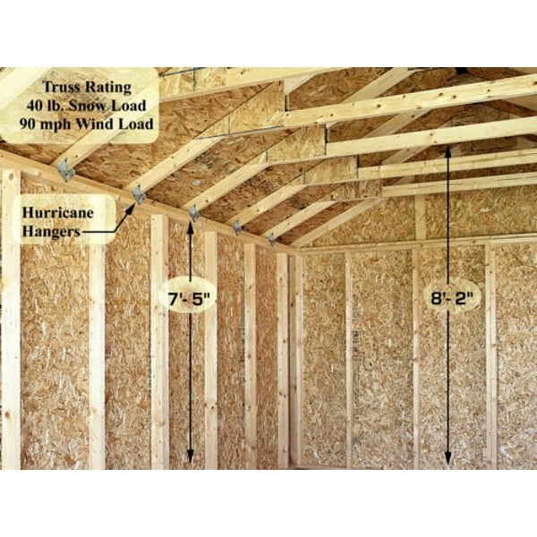 Pre Cut Timber Frames For Buildings Storage Garages And More: Sierra 12x24 Wood Storage Garage Shed Kit