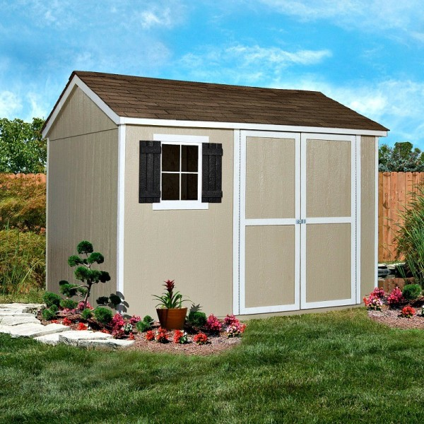 Handy Home Avondale 10x8 Wood Storage Shed Kit With Floor