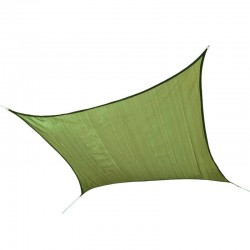 Shelter Logic 12ft Square Shade Sail - Lime Green (25676)