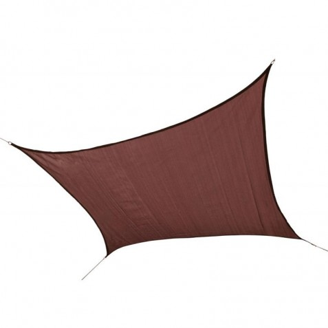 Shelter Logic 12ft Square Shade Sail - Terracotta (25672)