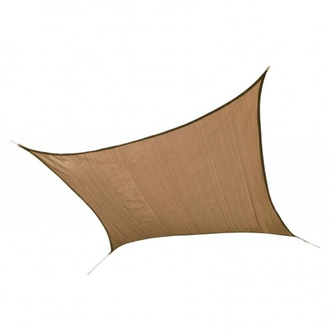 Shelter Logic 12ft Square Shade Sail - Sand (25731)