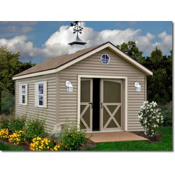 South Dakota 12x12 Vinyl Siding Wood Shed Kit (southdakota_1212)