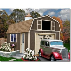 Best Barns Tahoe 12x16 Wood Storage Garage Shed Kit (tahoe_1216)