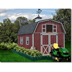 Best Barns Woodville 10x16 Wood Storage Shed Kit - ALL Pre-Cut (woodville_1016)