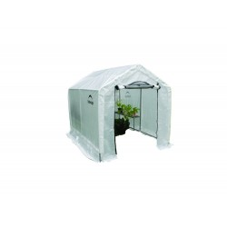 "Shelter Logic 6x8x6' 6"" Peak Style Organic Greenhouse Kit w/ Integrated Shelving (70600)"