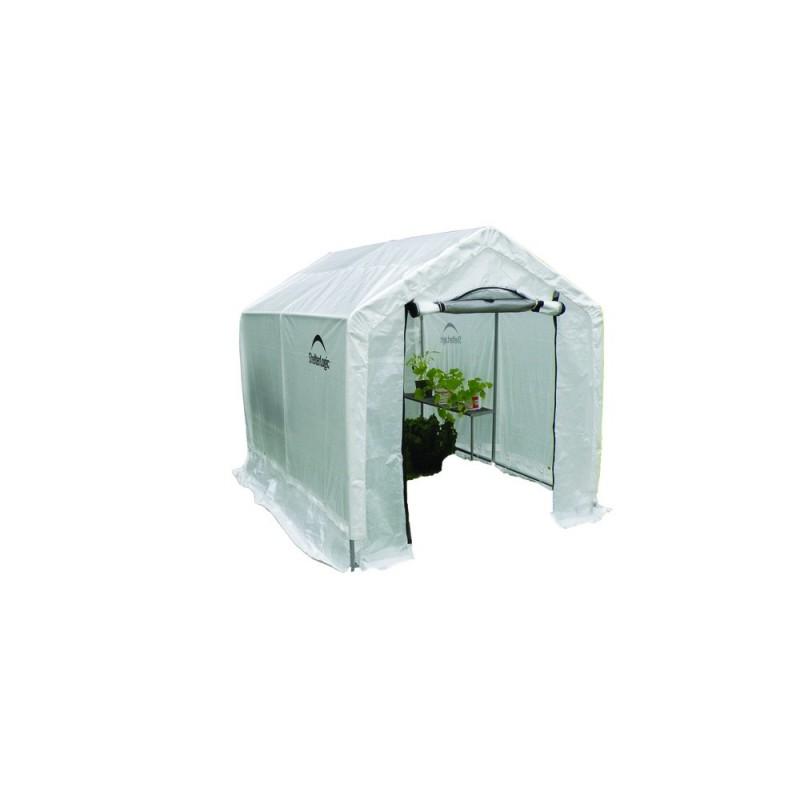 "Shelter Logic 6x8x6' 6"" Peak Style Organic Greenhouse Kit w/ Integrated Shelving (70600)"