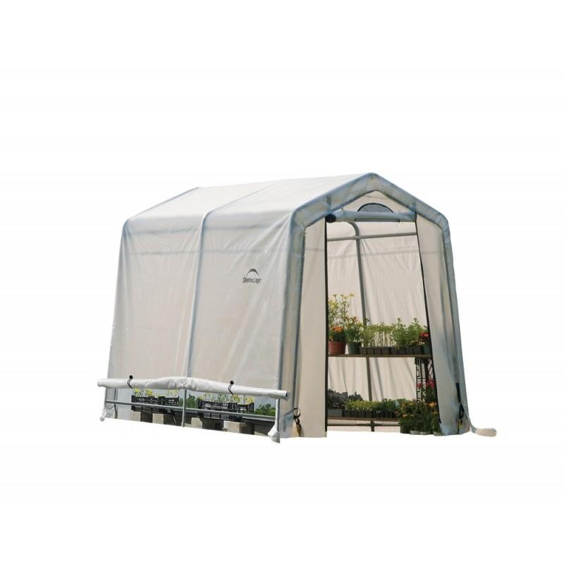 Shelter Logic 6x8x6 Rib Peak Style Greenhouse Kit - Translucent (70652)