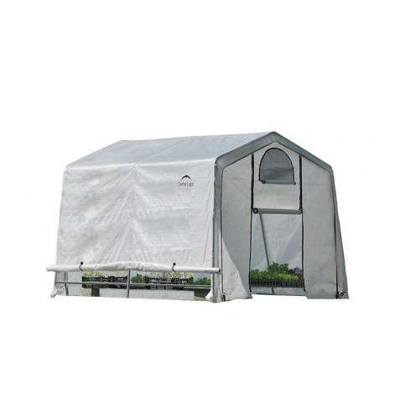 Shelter Logic 10x10x8 ft Rib Peak Style Greenhouse Kit - Translucent (70656)