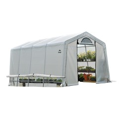 Shelter Logic 10x20x8 Peak Style Greenhouse-In-A-Box Kit - Translucent (70658)