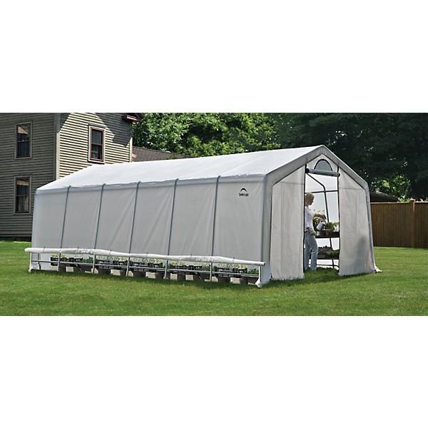 Shelter Logic 12x24x8 Peak Style Greenhouse Kit w/ Zipper ...