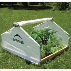 Shelter Logic 4x4x2'4 Peak Raised Bed Greenhouse - Roll-Up (70619)