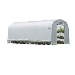 Shelter Logic 12x24x8 GrowIT Heavy Duty Greenhouse Kit w/ Zipper Door - Translucent (70593)