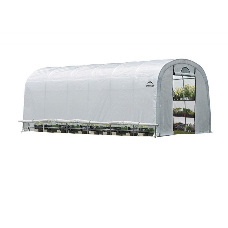 Shelter Logic 12x24x8 GrowIT Heavy Duty Greenhouse Kit w/ Zipper Door - Translucent (70593)
