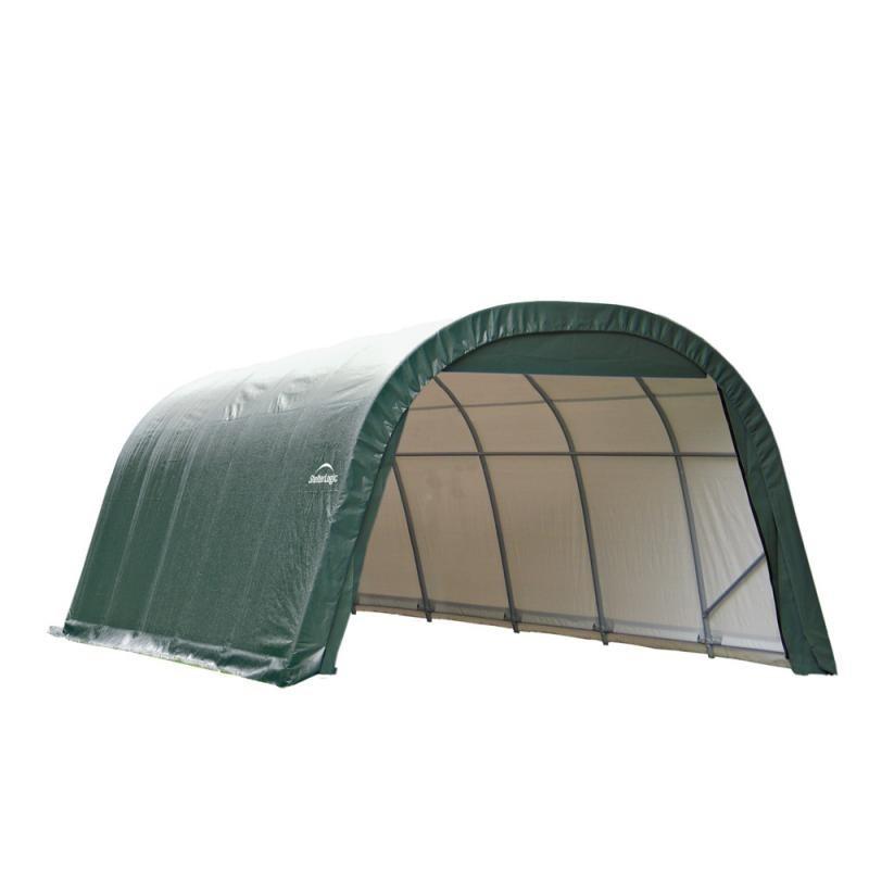Shelter Logic 12x20x8 Round Style Shelter Kit - Green (71342)
