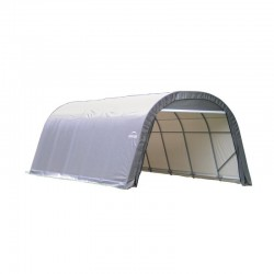 Shelter Logic 12x24x8 Round Style Shelter Kit - Grey (72332)