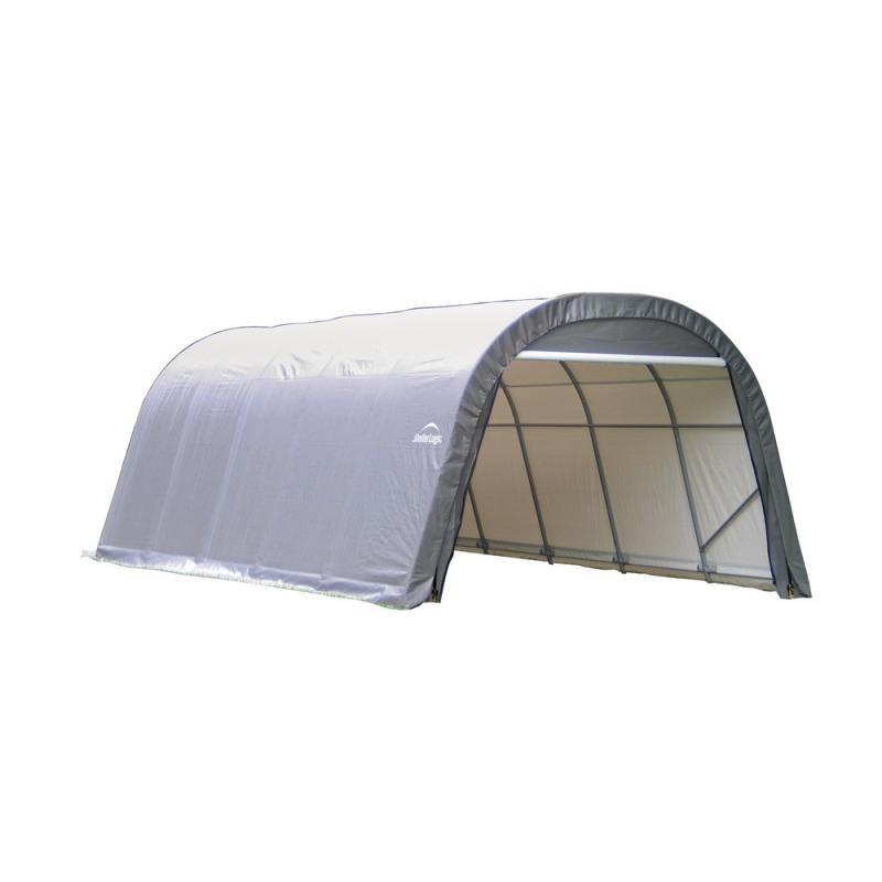 Shelter Logic 12x28x8 Round Style Shelter Kit - Grey (76632)
