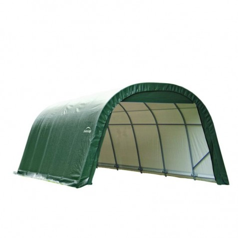 Shelter Logic 12x28x8 Round Style Shelter Kit - Green (76642)