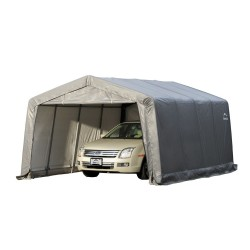 Shelter Logic 12x16x8 Peak Style Shelter Kit - Grey (62697)