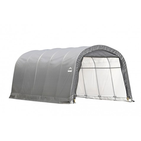 Shelter Logic 12x20x8 ft Round Style Shelter Kit - Grey 62780