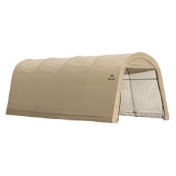 Shelter Logic 10x20x8 ft Round Style Auto Shelter Kit - Sandstone (62684)