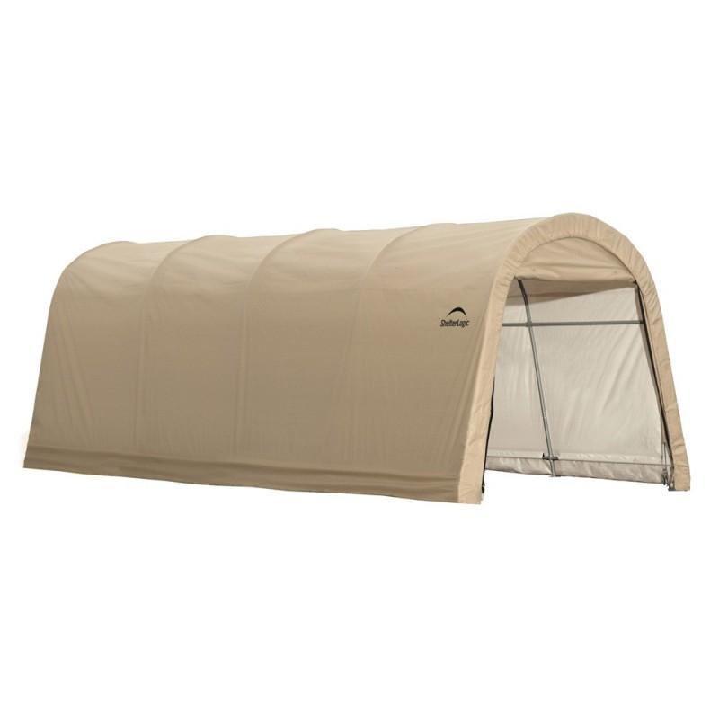 Shelter Logic 10x20x8 ft Round Style Auto Shelter Kit - Sandstone (62684)