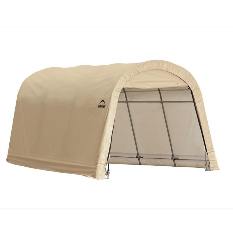 Shelter Logic 10x15x8 ft Round Style Auto Shelter Kit - Sandstone (62689)