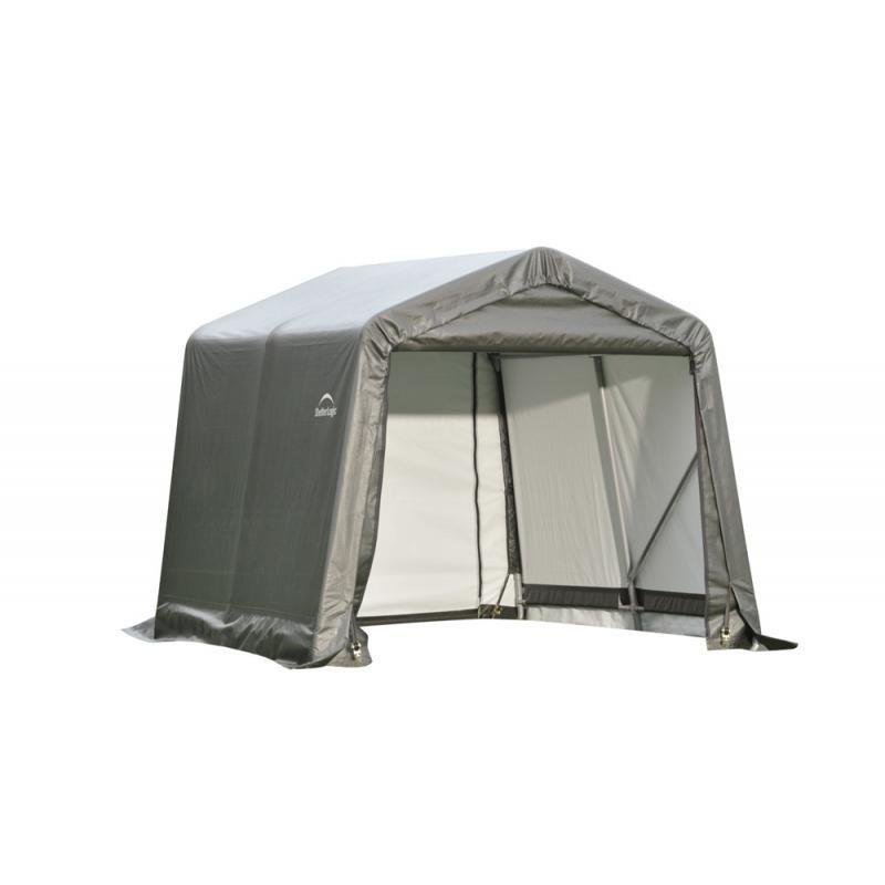 Shelter Logic 8x16x8 Peak Style Shelter Kit - Grey (71823)
