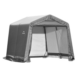 Shelter Logic 10x10x8 Peak Style Storage Shed Kit - Grey (70333)