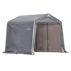 Shelter Logic 888 Peak Style Storage Shed  Grey 70423