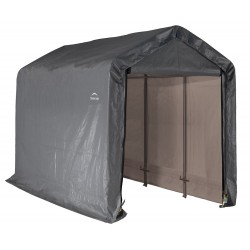 Shelter Logic 6x12x8 Peak Style Storage Shed - Grey (70413)