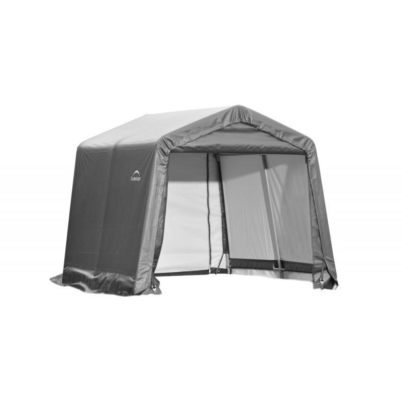Shelter Logic 11x8x10 Peak Style Shelter Kit - Grey (72853)