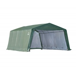 Shelter Logic 12x20x8 Peak Style Livestock / Hay Storage Shed Kit - Green (71534)