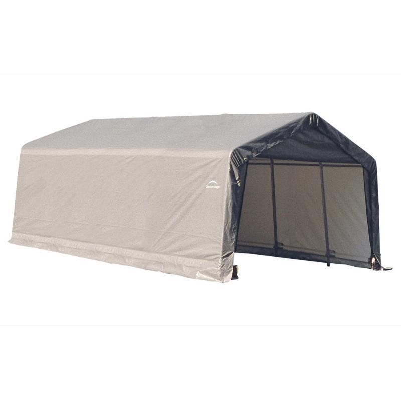 Shelter Logic 12x20x8 Peak Style Shelter Kit - Grey (71434)