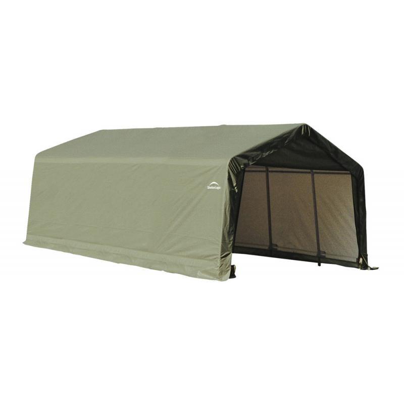 Shelter Logic 12x20x8 Peak Style Auto Garage Kit - Green (71444)