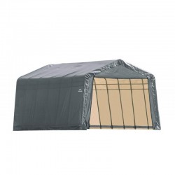 Shelter Logic 12x24x8 Peak Style Shelter Kit - Grey (72434)
