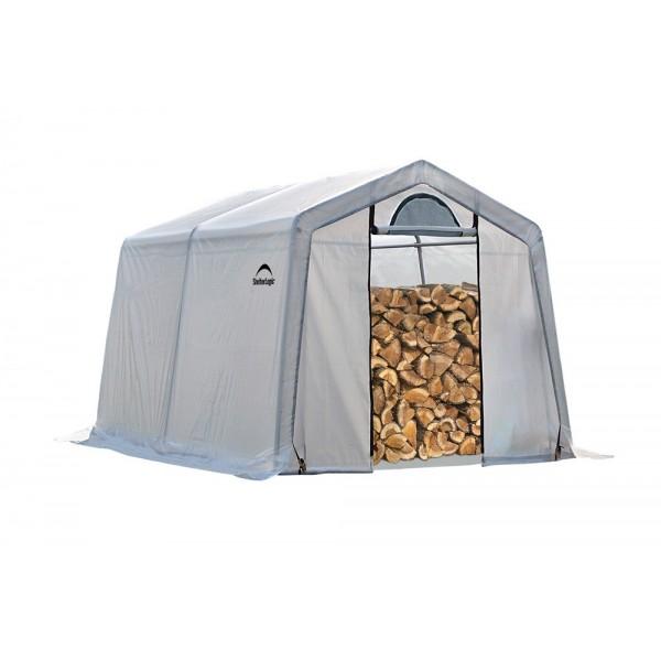 Fabric Shelter 8 10 : Shelter logic seasoning shed