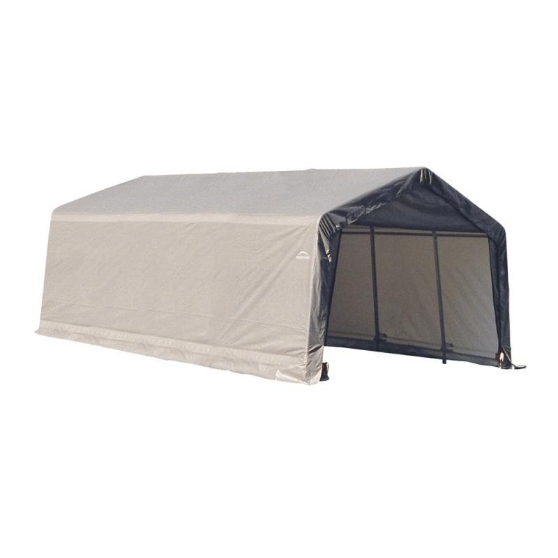 Shelter Logic 13x20x10 Peak Style Instant Garage Kit - Grey (73432)