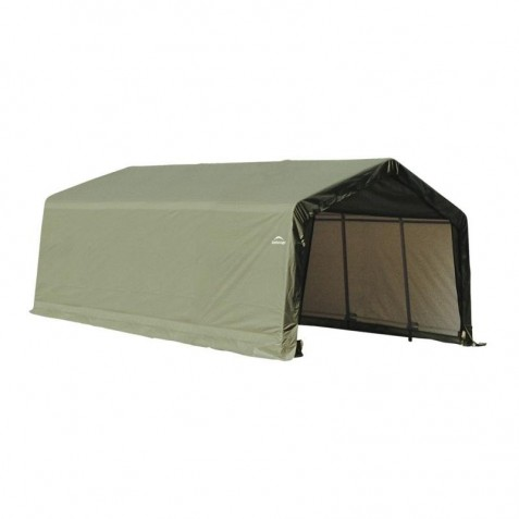 Shelter Logic 13x20x10 Peak Style Shed Kit - Green (73442)