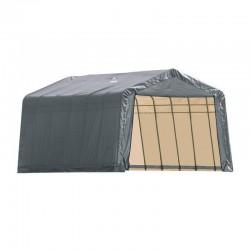 Shelter Logic 13x24x10 Peak Style Portable Garage Kit - Grey (74432)