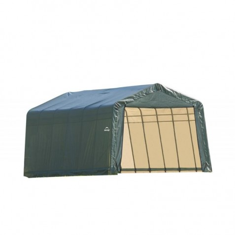 Shelter Logic 13x28x10 Peak Style Shed Kit - Green (90244)