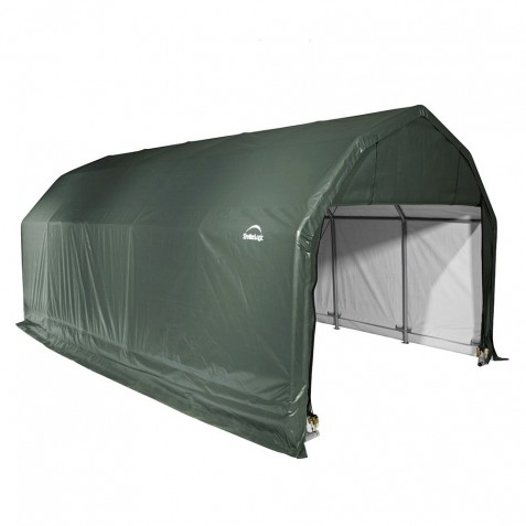 Shelter Logic 12x28x11 Barn Shelter Kit - Green (90254)