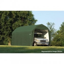 Shelter Logic 12x28x9 Barn Shelter Kit - Green (97254)