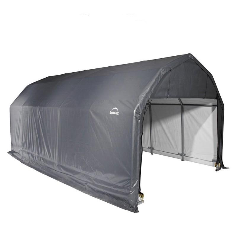 Shelter Logic 12x28x9 Barn Shelter Kit - Grey (97253)