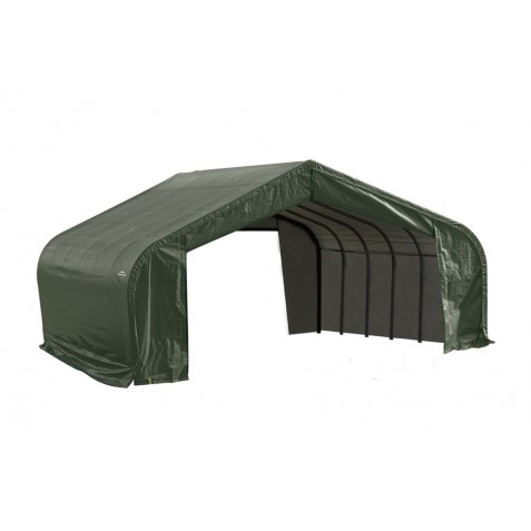 Shelter Logic 22x20x13 Peak Style Shelter Kit - Green (82044)