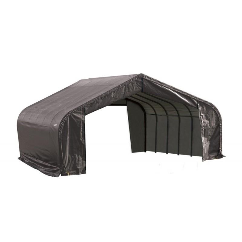 Shelter Logic 22x20x13 Peak Style Instant Garage Kit - Grey (82043)