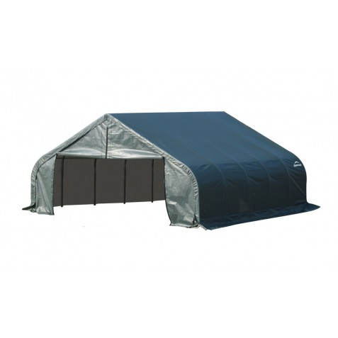 Shelter Logic 18x28x11 Peak Style Shelter, Green (80025)
