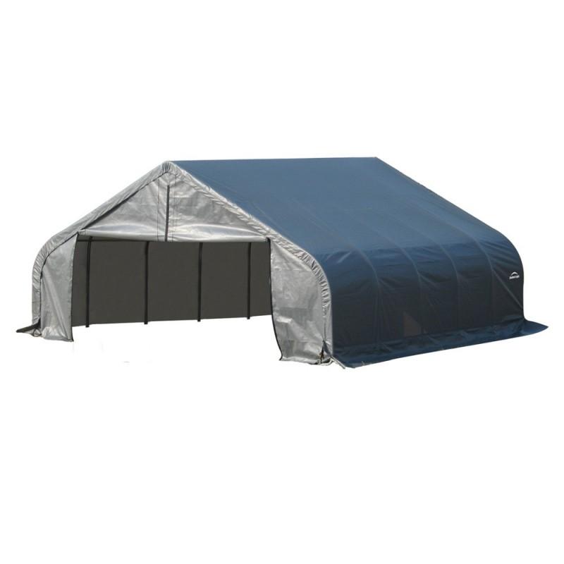 Shelter Logic 18x28x11 Peak Style Shelter Kit - Grey (80024)