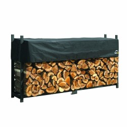 Shelter Logic 8ft Ultra Duty Firewood Rack w/ Cover (90475)