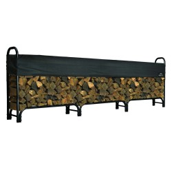 Shelter Logic 12ft Heavy Duty Firewood Rack w/ Cover (90403)