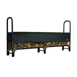 Shelter Logic 8ft Heavy Duty Firewood Rack w/ Cover (90402)